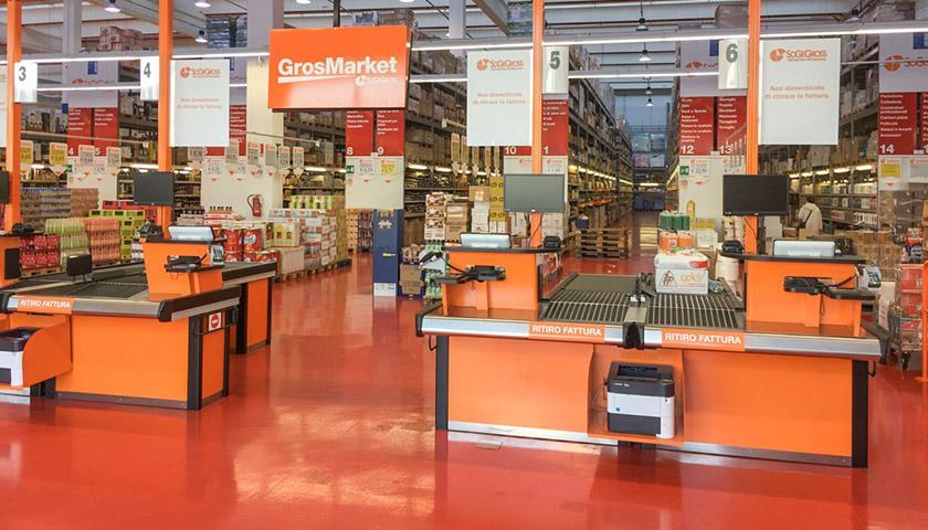 Banchi cassa per supermercati