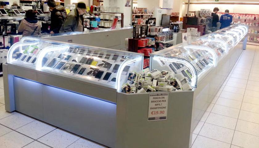 banchi espositivi negozi elettronica