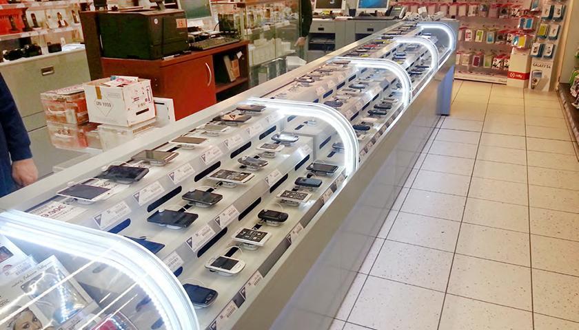bancone vetrina espositivo per negozi