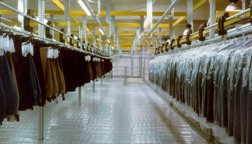 magazzini automatizzati capi appesi