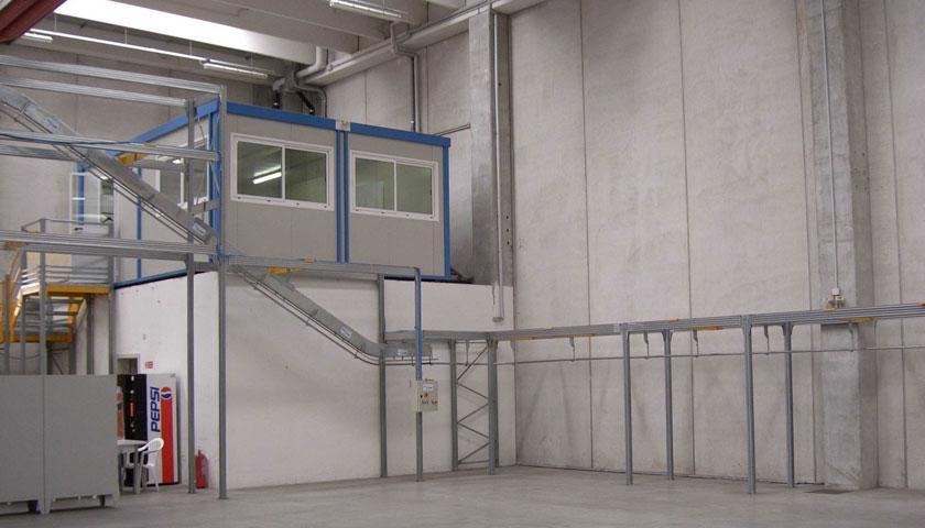 magazzini sistemi di trasporto aereo