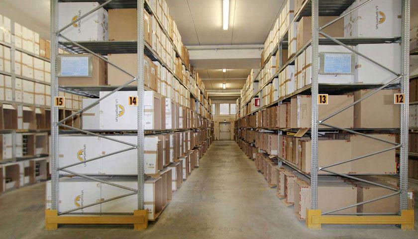 scaffalature metalliche leggere archivio