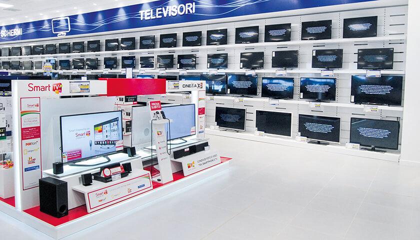 scaffali per negozi di elettronica