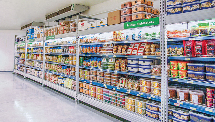 scaffali per supermercati